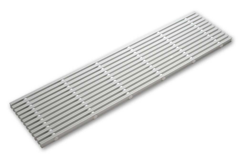Accessoires piscine grille de goulotte rigide for Piscine plastique rigide
